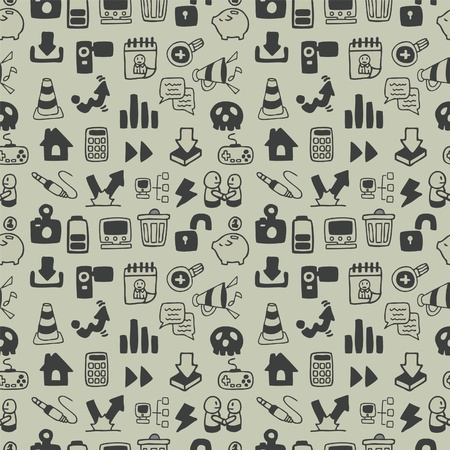 folder icons: Seamless web icon pattern. illustration
