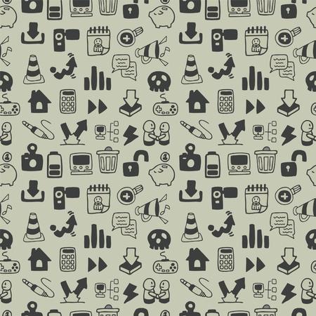 ic�ne logiciel: Web sans soudure ic�ne pattern. Illustration