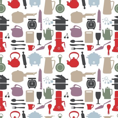 seamless kitchen pattern,illustration Stock Vector - 8501572