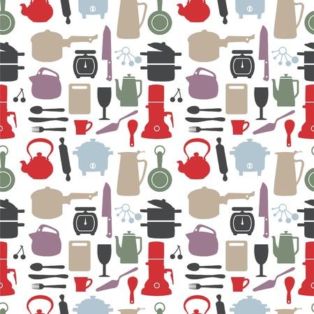 seamless kitchen pattern,illustration Stock Vector - 8501572