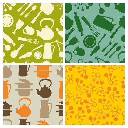 cocina - patrón transparente