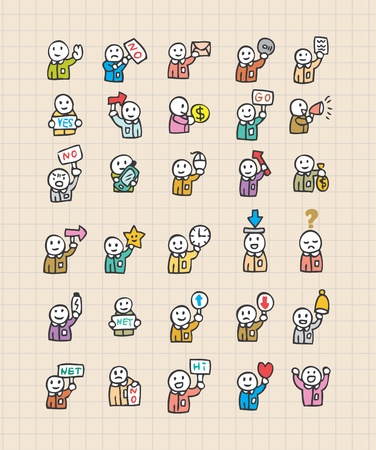 web icon with people Vector