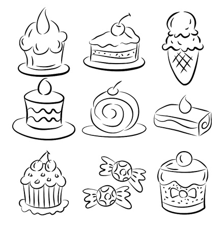 sketch cake element Vector