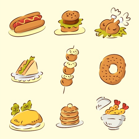 cute cartoon food Stock Vector - 8493728