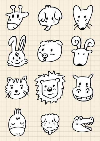 cute cartoon animal face Vector