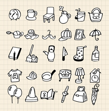 hand draw home icon Vector