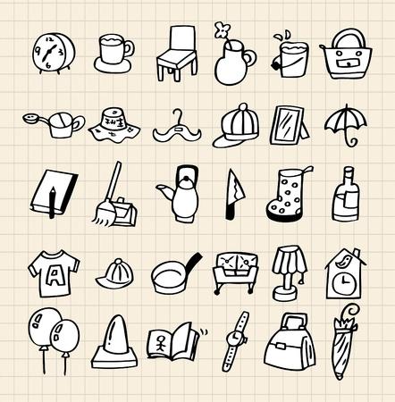 icono inicio: mano dibujar el icono de inicio Vectores
