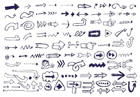 move arrow icon: Garabatos de flecha Vectores