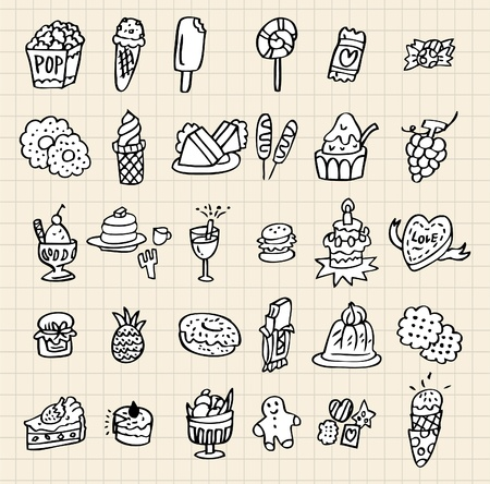 hand draw cake Stock Vector - 8501543