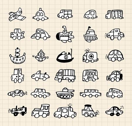 hand draw car element Stock Vector - 8501538