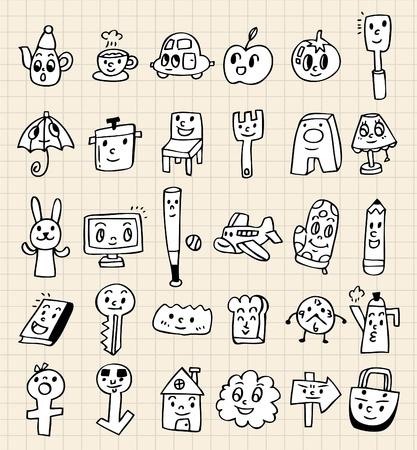 coffee blender: hand draw cute cartoon