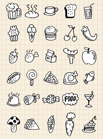 doodle food drink,hand draw 일러스트