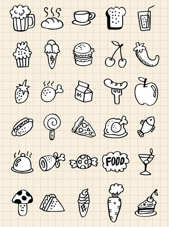 italian sausage: doodle food drink,hand draw Illustration