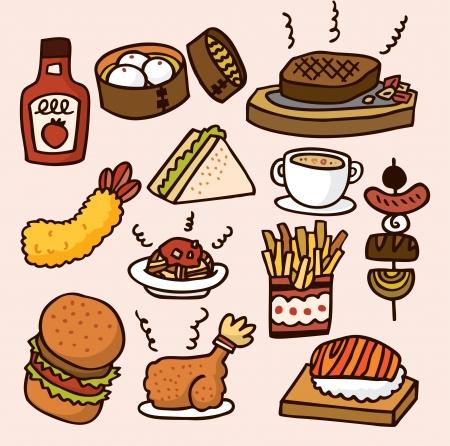 cute cartoon food Stock Vector - 8501542