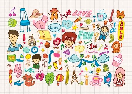 hand draw cute cartoon element,illustration Stock Vector - 8501548