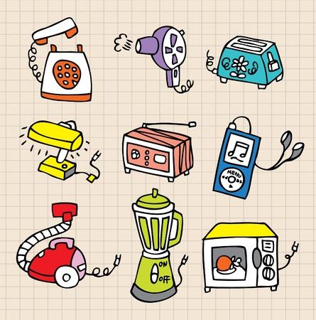 vacuuming: Icona di elemento di lavoro domestico Vettoriali