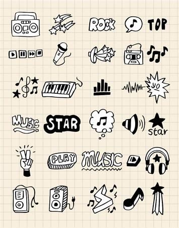 hand draw: hand draw music element