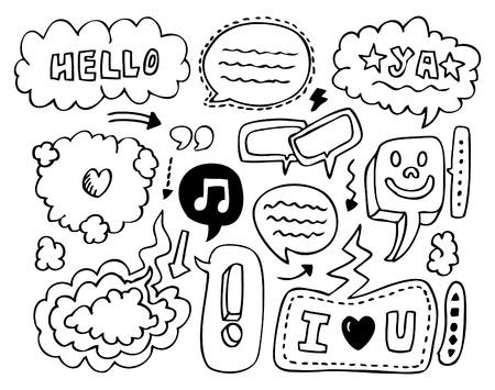 doodle speech element Vector