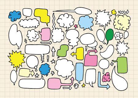 hand draw speech bubbles Vector