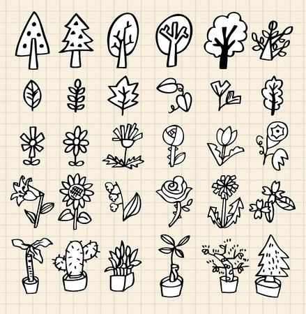 hand draw tree icon Vector