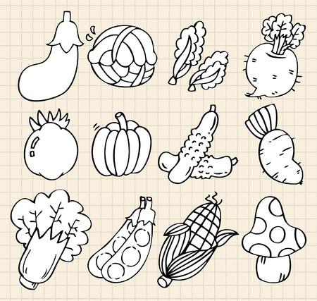 귀여운 만화 야채