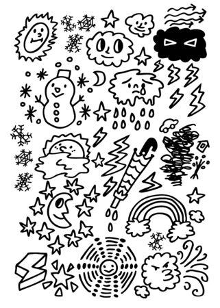 cute cartoon weather Stock Vector - 8492104