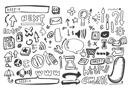hand draw web icon,vector Stock Vector - 8493701