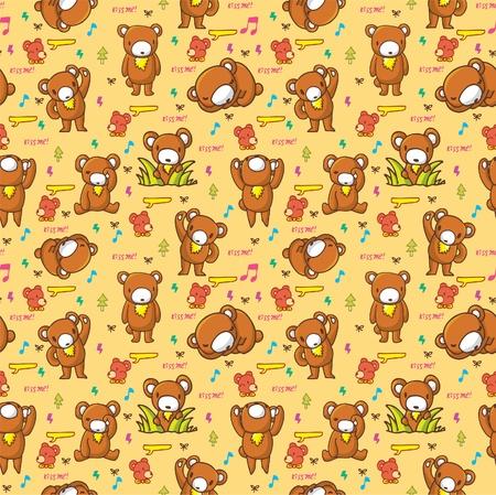 cute bear seamless pattern Stock Vector - 8493704