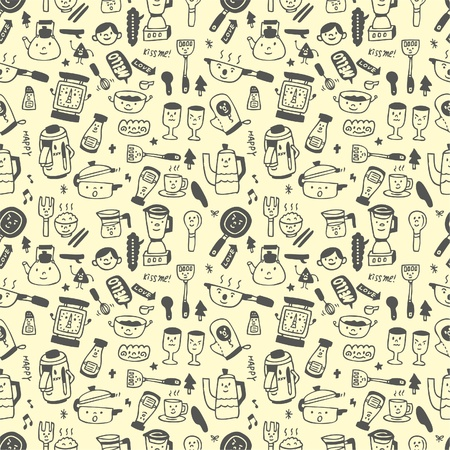 seamless pattern funny cartoon Vector