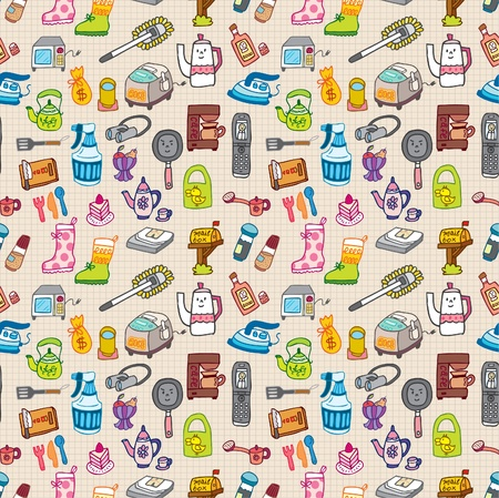 stir: funny home thing seamless pattern