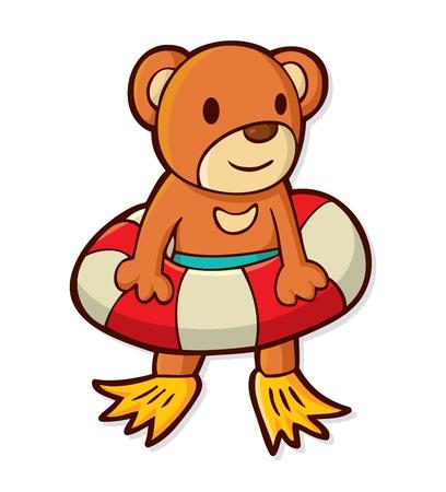 cute cartoon bear Vector