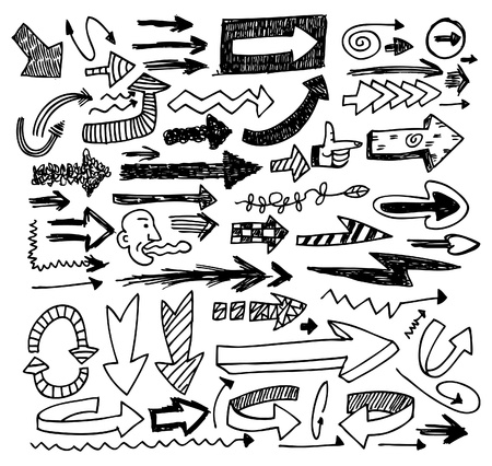 doodle arrow set Stock Vector - 8487029