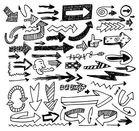 pointer stick: set di freccia Doodle