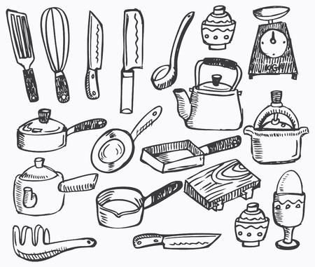 Kitchen element,hand draw Stock Vector - 8487028