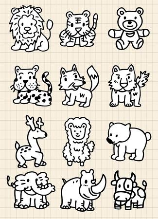 cute cartoon animal icon Vector