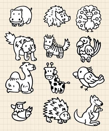 cute cartoon animal Stock Vector - 8486965