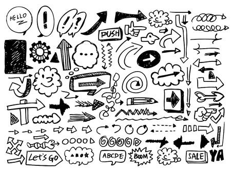 doodle arrow Stock Vector - 8486961
