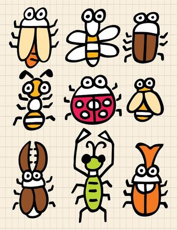 cute cartoon bug Stock Vector - 8486957