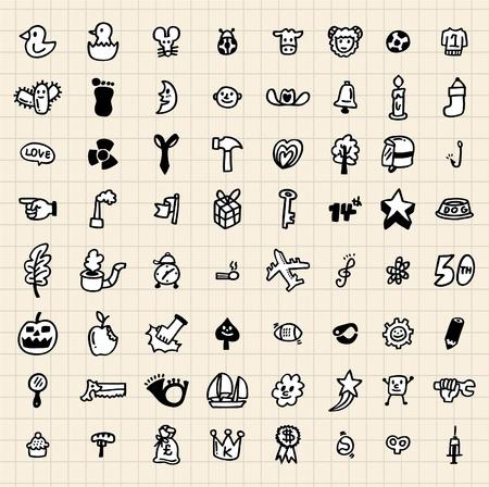 hand draw: hand draw cartoon icon