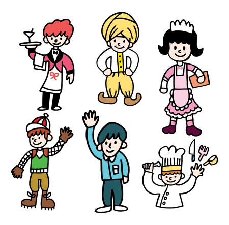 cute cartoon people Vector