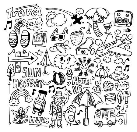 doodle travel Stock Vector - 8486818
