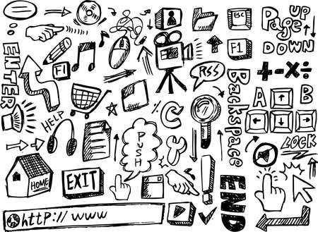doodle web Stock Vector - 8486783