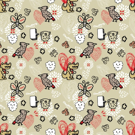 seamless animal pattern Stock Vector - 8486787