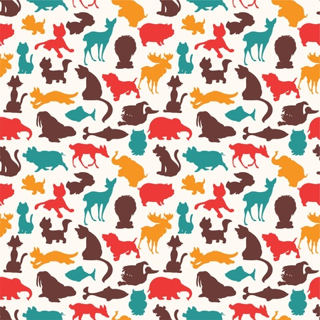 animals and pets: seamless animal pattern