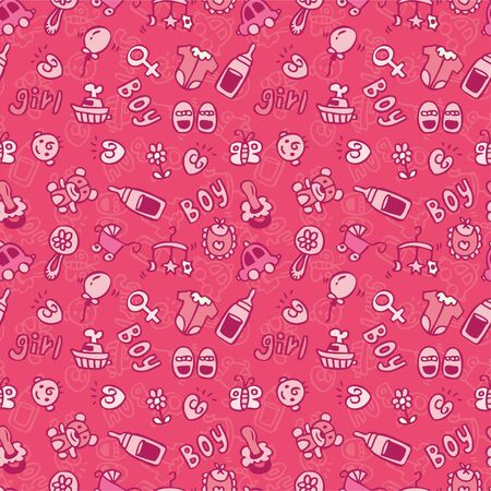 seamless baby pattern Stock Vector - 8486747