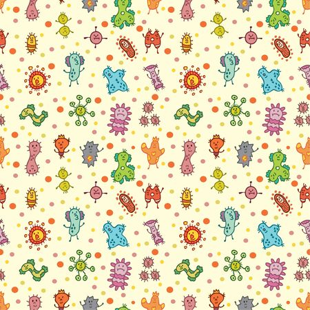 bacilli: seamless virus pattern Illustration