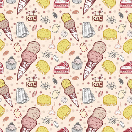 seamless cookie pattern Vector