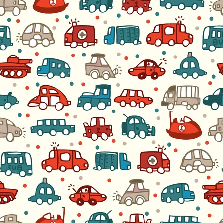 seamless car pattern Stock Vector - 8480487