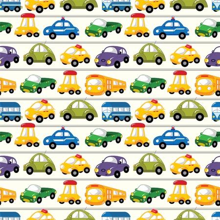 naadloze auto patroon Vector Illustratie