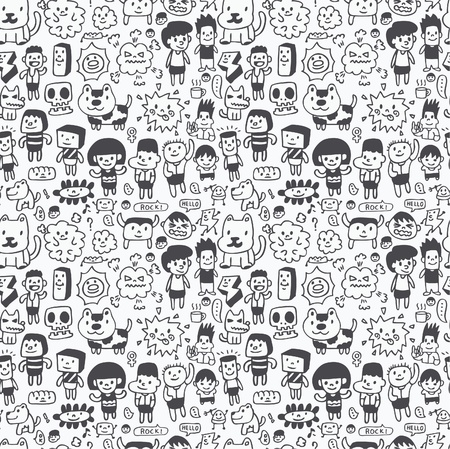 naadloze cartoon patroon Vector Illustratie